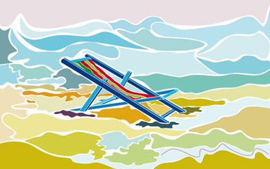 Deck Chair on the beach